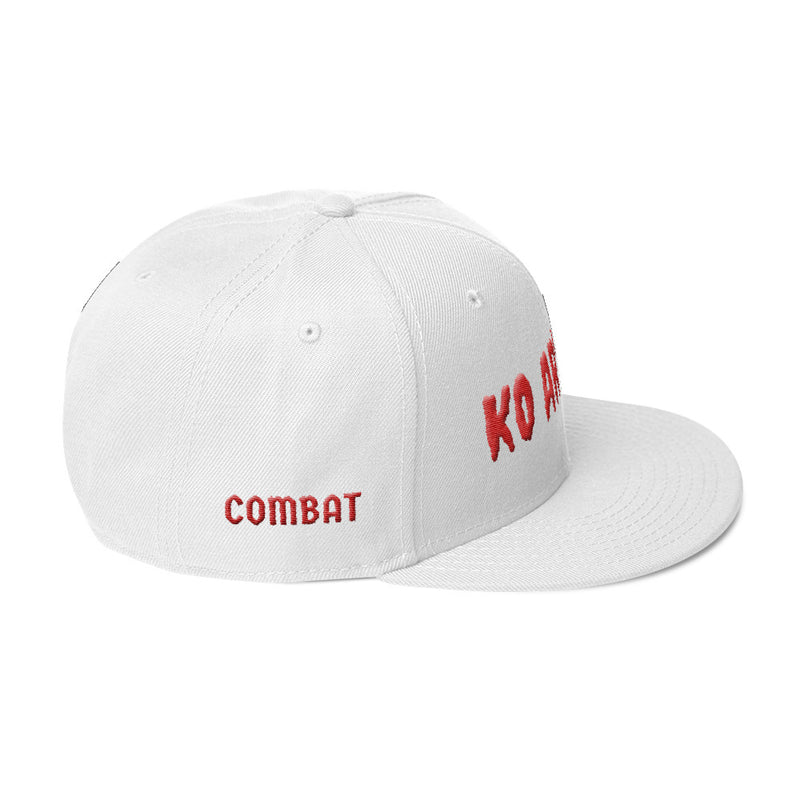 Combat Legend Knockout Artist 2 3D Puff Red on White Snapback 2