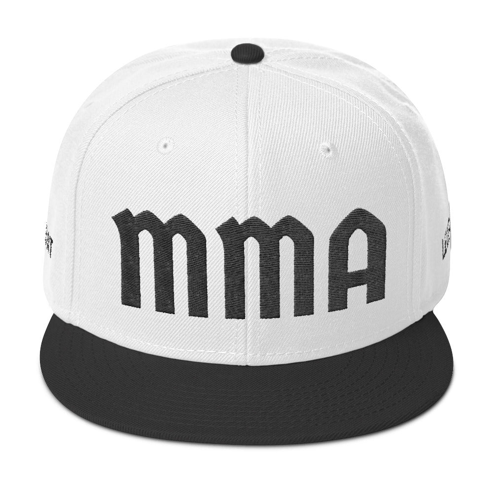 Combat Legend Black on White MMA Snapback