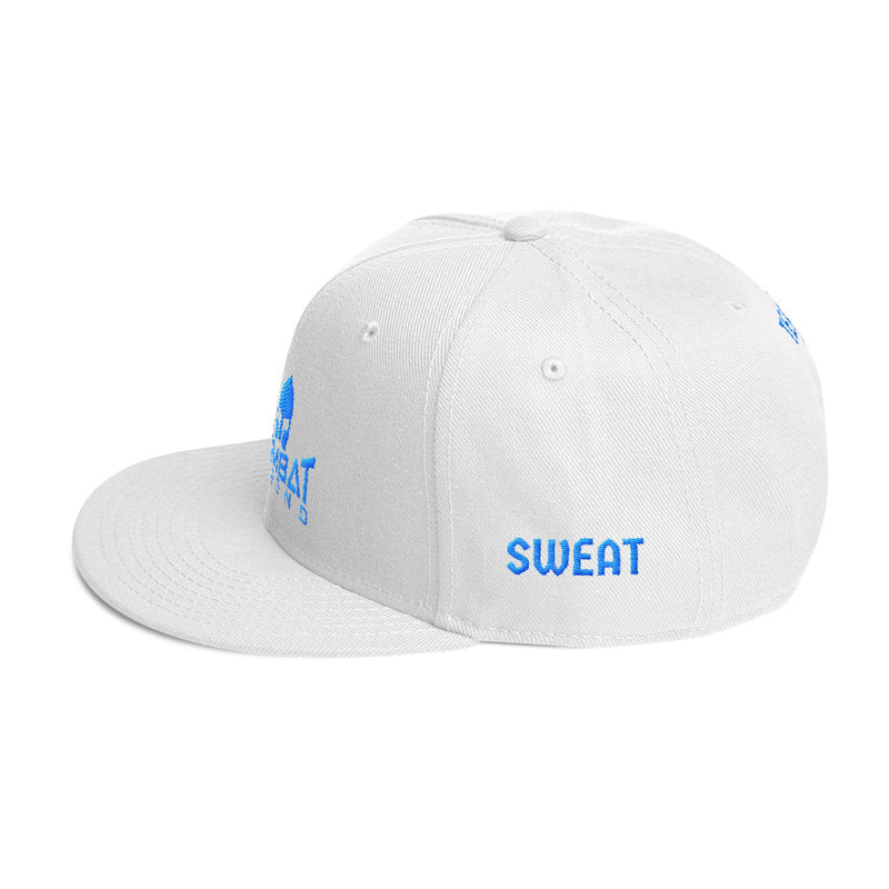 Combat Legend Blood Sweat and Tears Light Blue on White Snapback 2