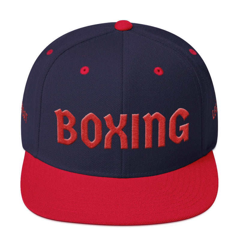 Combat Legend Red on Blue Boxing 3D Puff Snapback 1