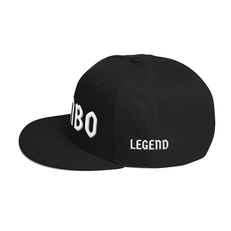 Combat Legend Sambo White on Black 3D Puff Snapback 2