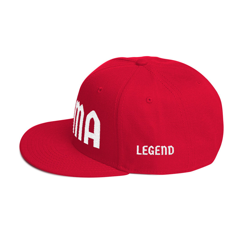 Combat Legend MMA White on Red Snapback