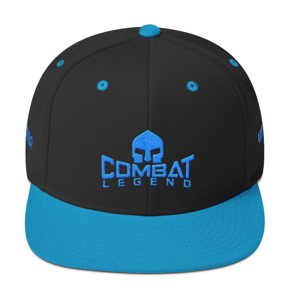 Combat Legend WMMA Teal on Black Snapback 1