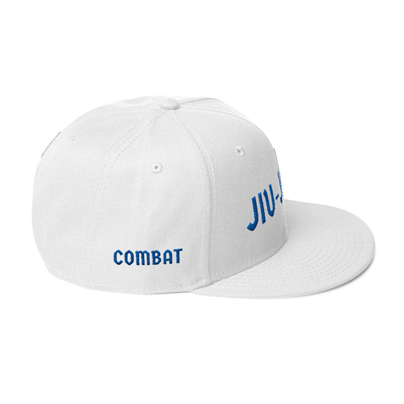 Combat Legend Jiu-Jitsu Blue on White Snapback 2
