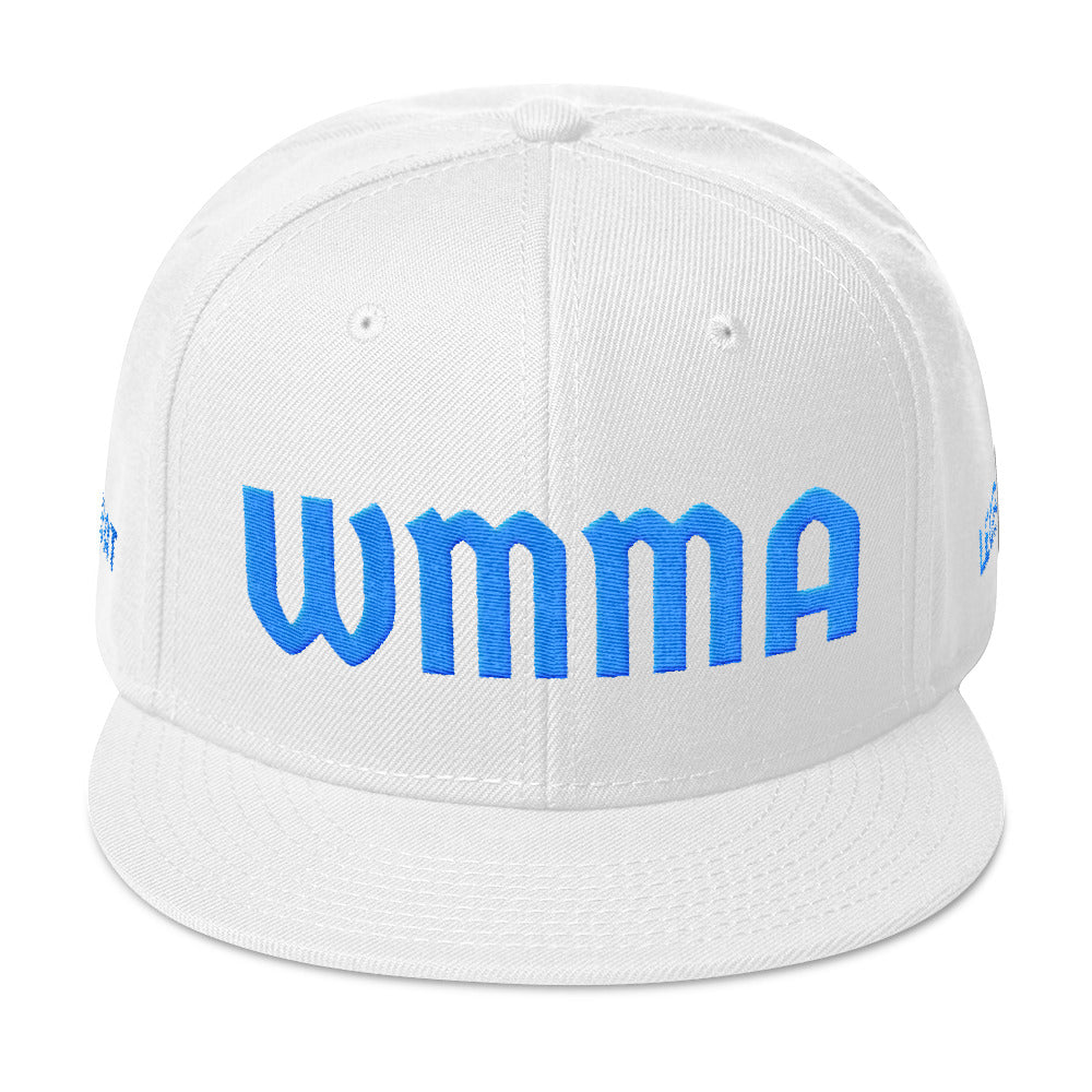 Combat Legend Baby Blue on White WMMA Snapback 2