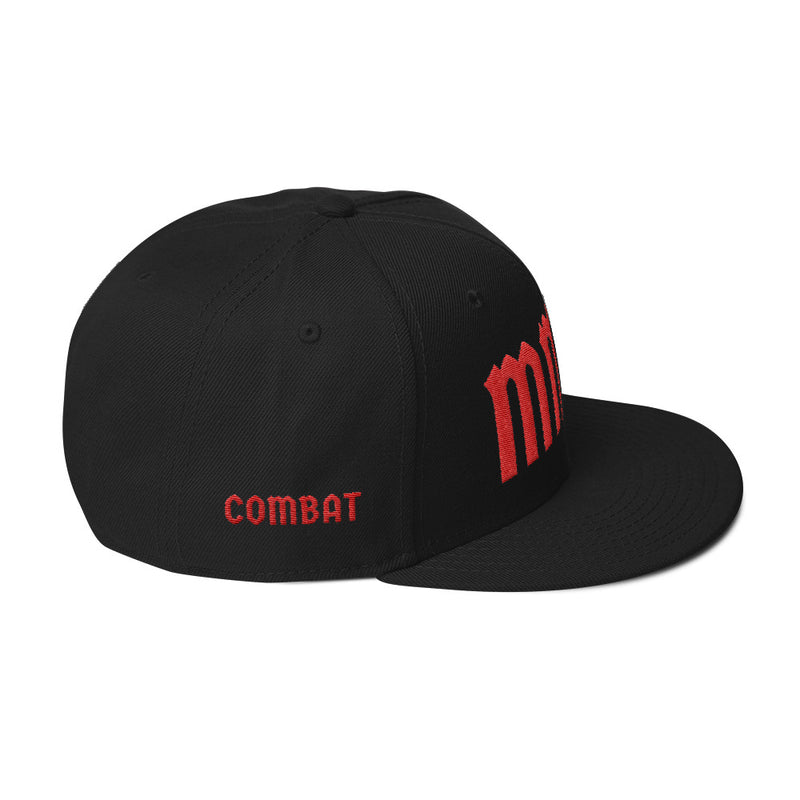 Combat Legend MMA Red on White Snapback 2