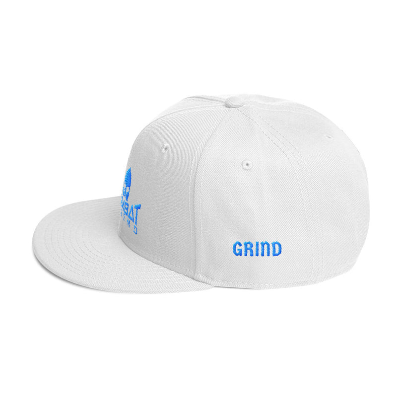 Combat Legend Hustle and Grind Teal on Solid White Snapback