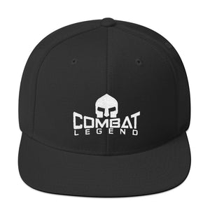 Combat Legend White on Black Snapback 1