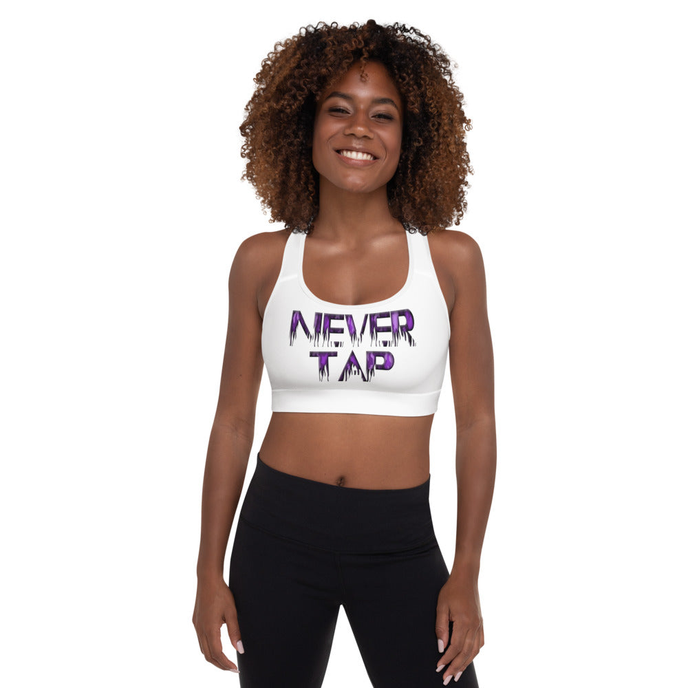 Combat Legend Never Tap Sports Bra