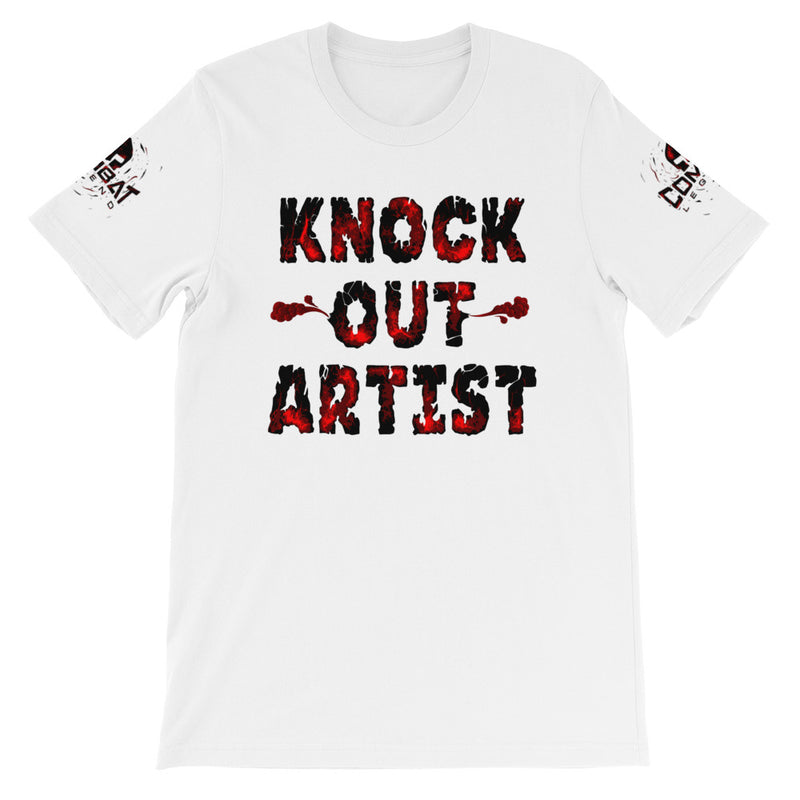 Combat Legend Knockout Artist Red on White T-Shirt