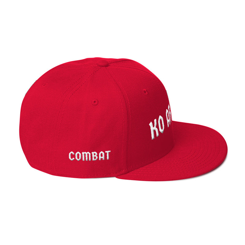 Combat Legend Knockout Artist White on Red 3D Puff Snapback 2