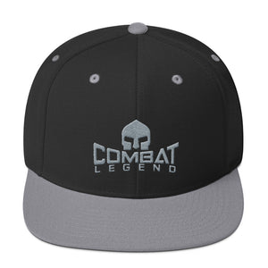 Combat Legend Silver on Black Snapback 1