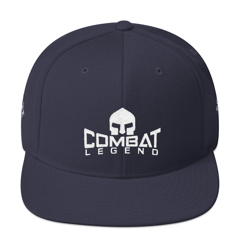 Combat Legend New Mexico White on Solid Snapback 1