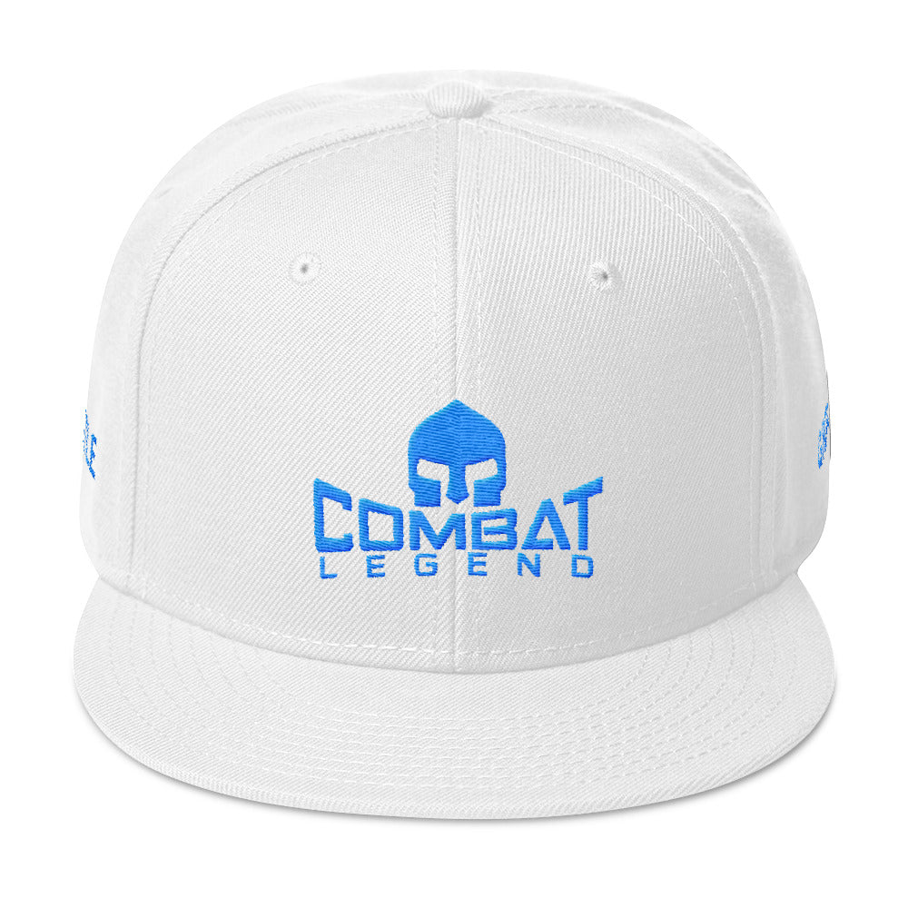 Combat Legend Hustle and Grind Teal on Solid White Snapback 2
