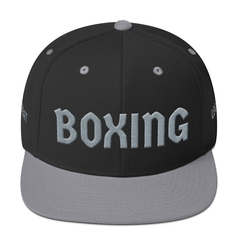 Combat Legend Silver on Black Boxing 3D Puff Snapback 1