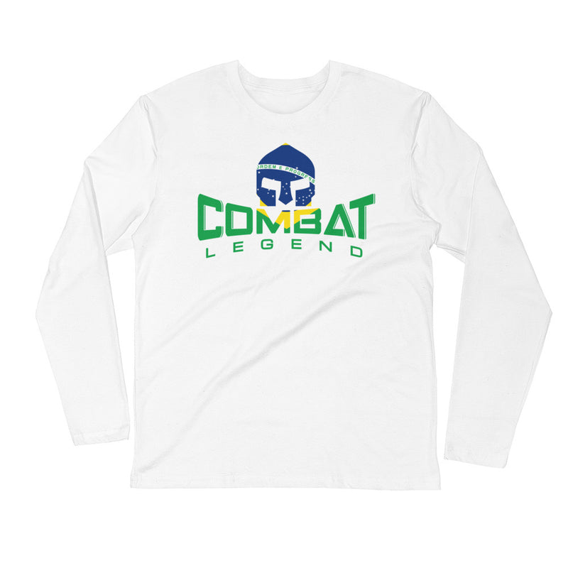 Combat Legend Brazil Long Sleeve Fitted T-Shirt