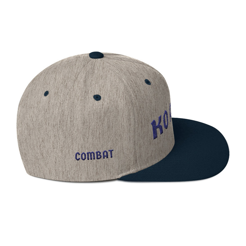 Combat Legend Knockout Artist Blue on Grey Snapback 1