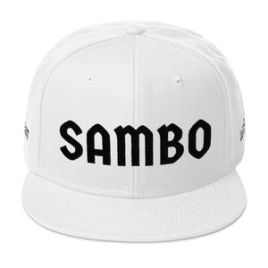 Combat Legend Sambo Black on White Snapback 2