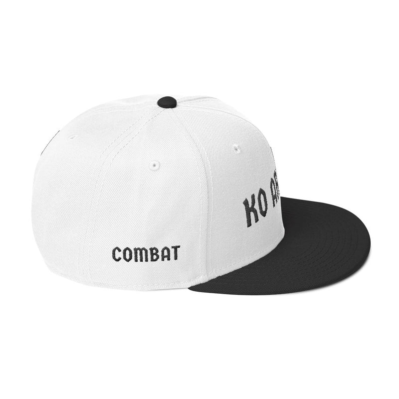 Combat Legend Knockout Artist Black on White 3D Puff Snapback 2