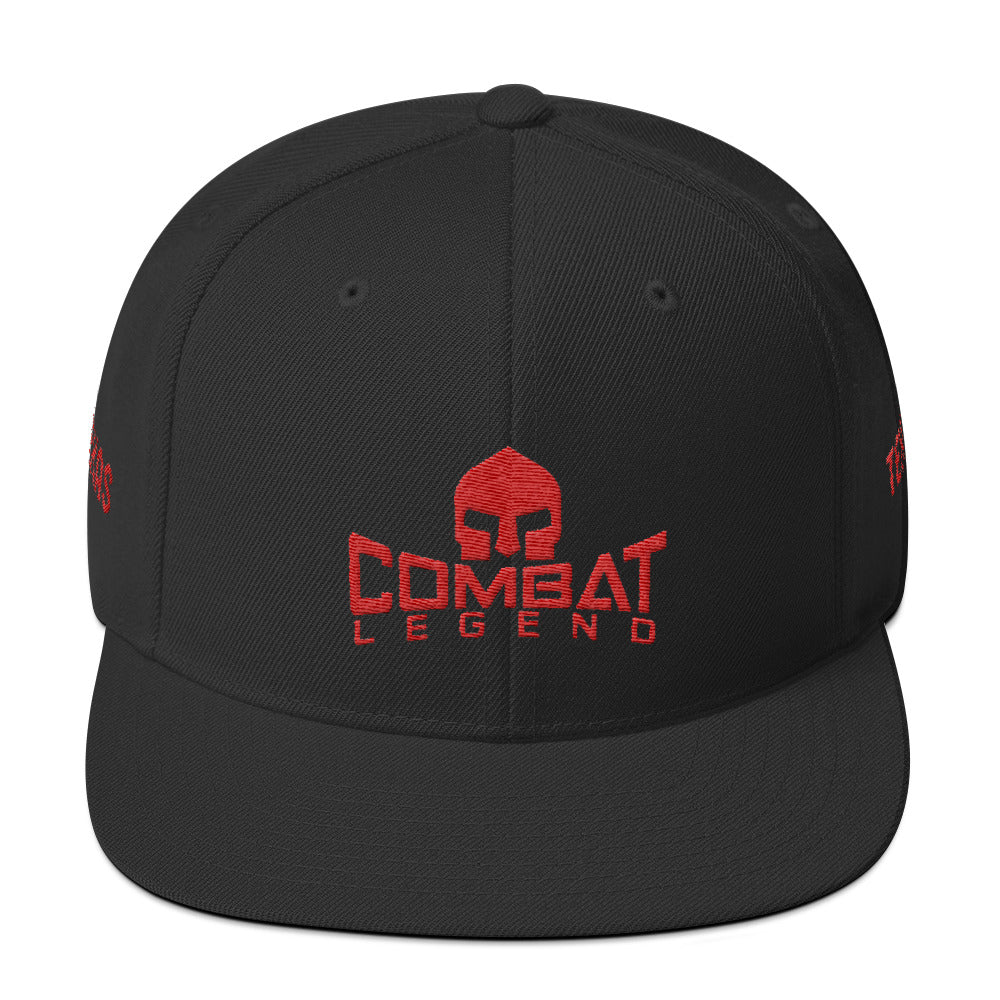 Combat Legend Texas Red on Black Snapback 1