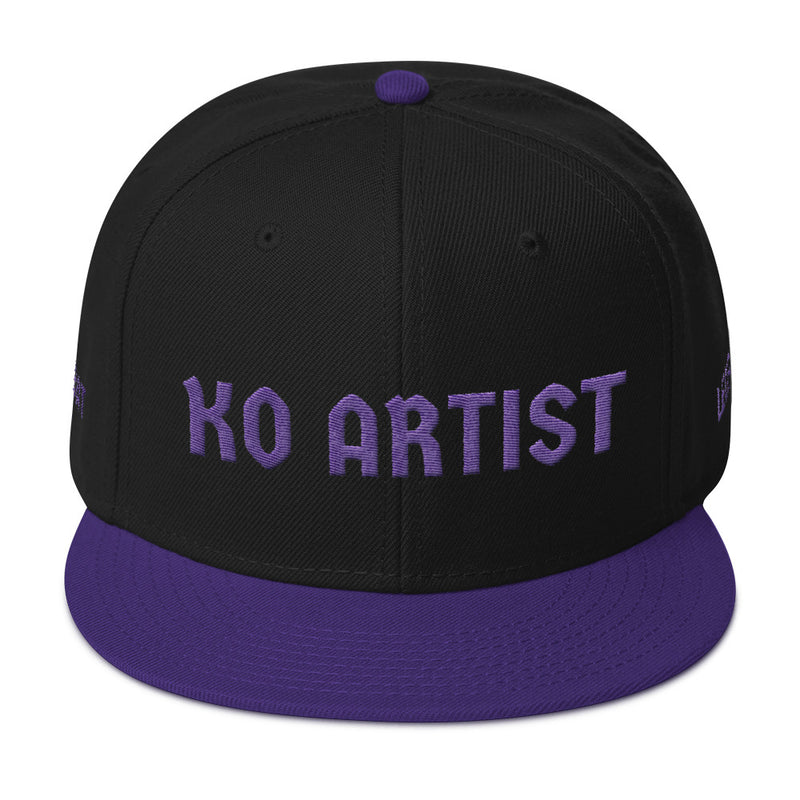 Combat Legend Knockout Artist Purple on Black 3D Puff Snapback 2