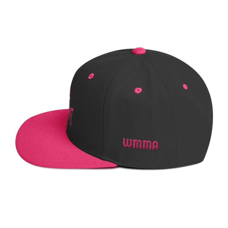 Combat Legend Pink on Black WMMA Snapback 1