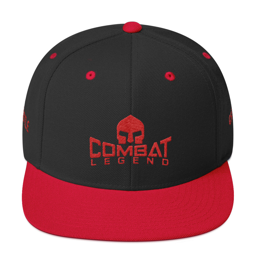 Combat Legend Hustle and Grind Red on Black Snapback 1