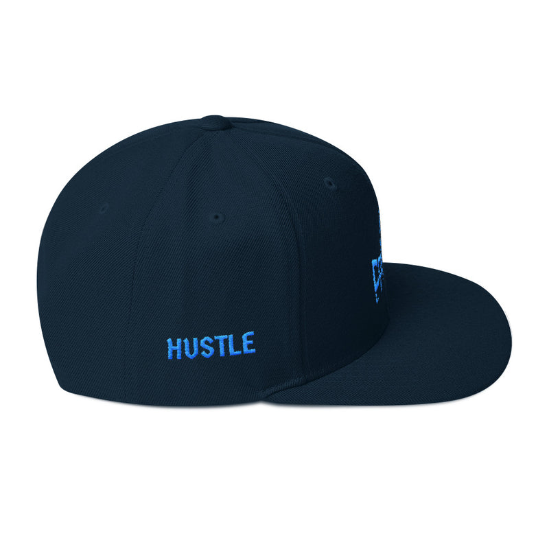 Combat Legend Hustle and Grind Teal on Navy Snapback 1