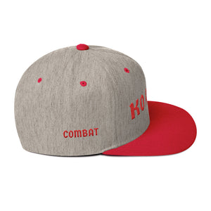 Combat Legend Knockout Artist Red on Grey Snapback 1
