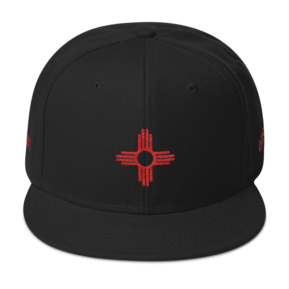 Combat Legend New Mexico Red on Black Snapback 2