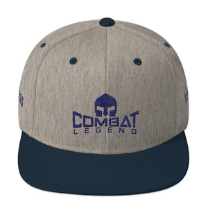 Combat Legend Texas Blue on Grey Snapback 1