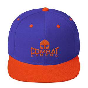 Combat Legend Orange on Blue Snapback 1