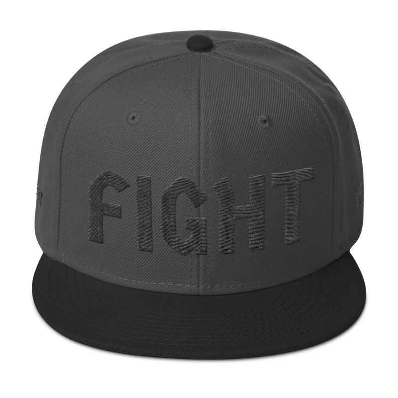 Combat Legend Fight Black on Charcoal 3D Puff Snapback 2