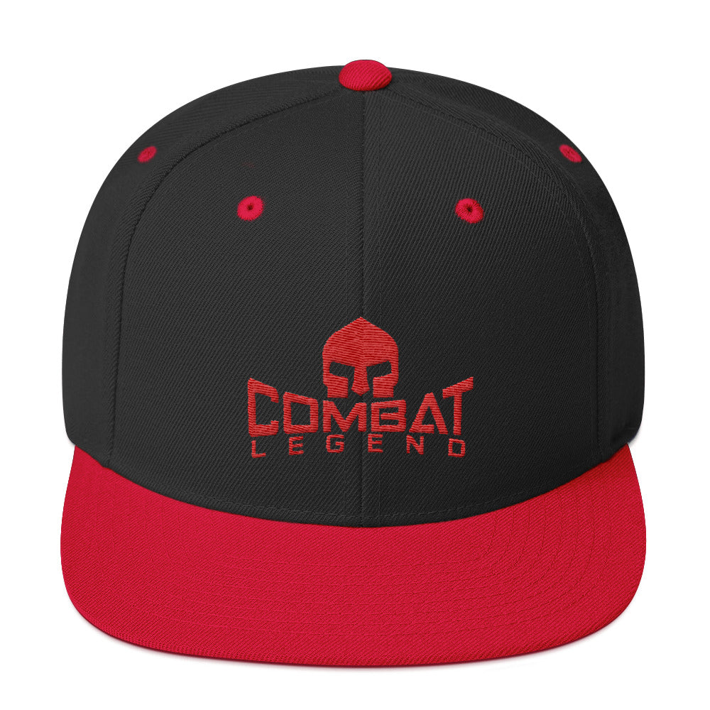 Combat Legend Red on Black Snapback 1