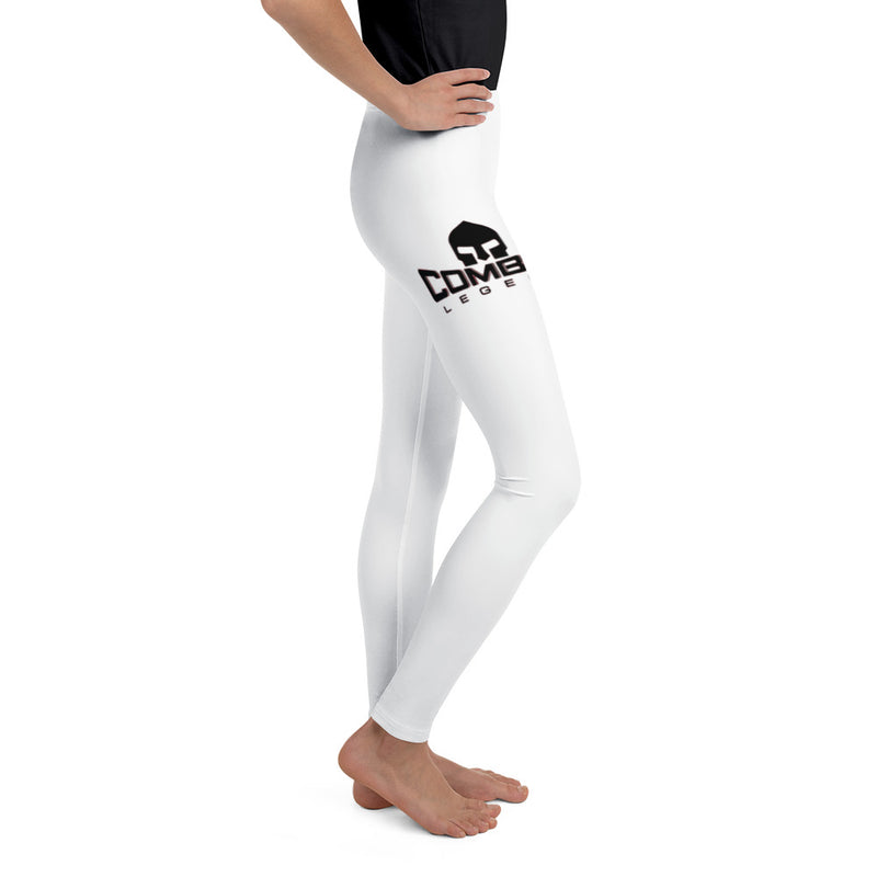 Combat Legend Black on White Girls Leggings