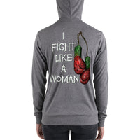 Combat Legend I Fight Like A Woman 2 Zip Hoodie