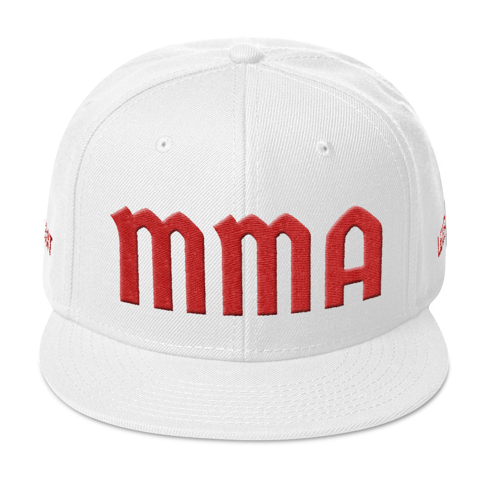 Combat Legend Red on White MMA 3D Puff Snapback 2