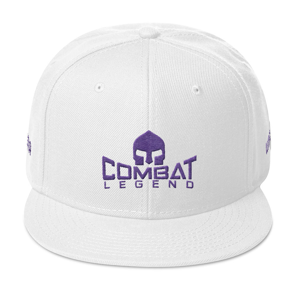 Combat Legend WMMA Purple on White Snapback 2