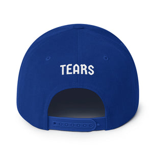 Combat Legend Blood Sweat and Tears White on Blue Snapback 1