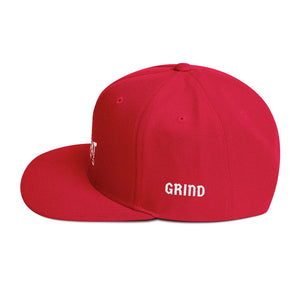 Combat Legend Hustle and Grind White on Red Snapback