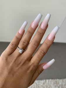 French Ombre Press On Nails