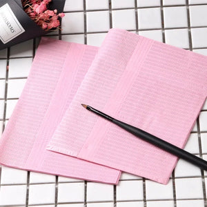 Disposable Pink Mat for Nail Table or Salon Work Station 125pk