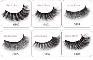 5 pack 3D strip lashes