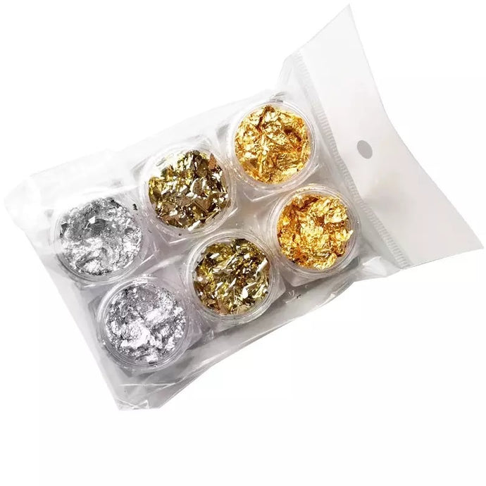 Gold Silver Colorful Nail Art Foil