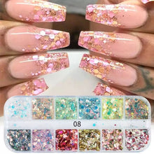 Load image into Gallery viewer, NAIL ART Glitter Flakes set