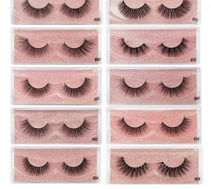 3D Volume Cruelty free Mink Natural False Eyelashes