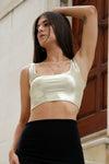Bella Cropped Top in Gold
