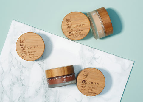 Elate Uplift Foundation sustainable bamboo and glass containers