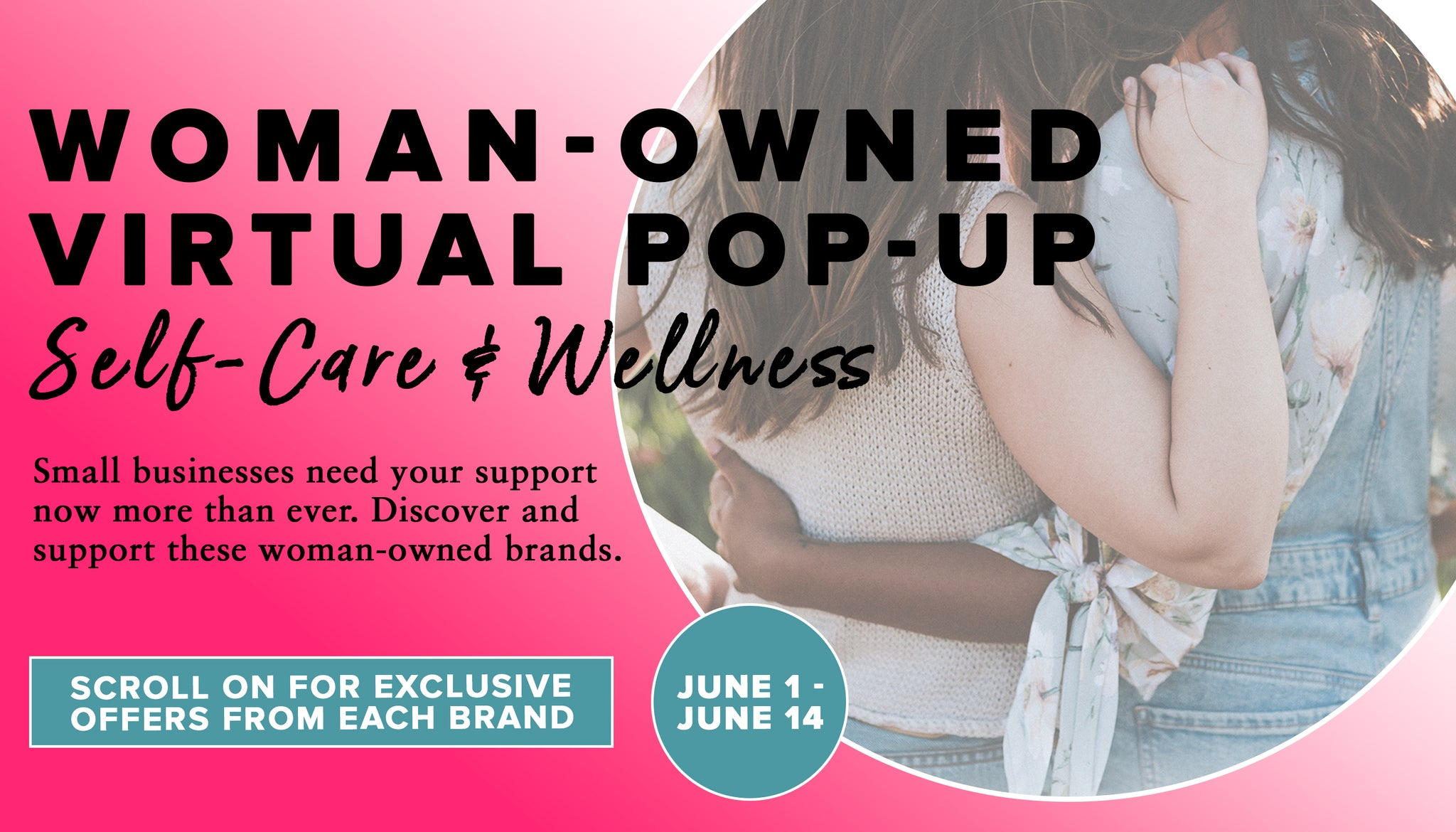 woman owned virtual pop-up Self care & wellness