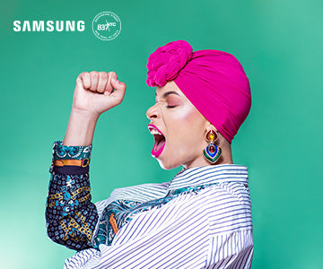 fempower-beauty-woman-rosie-the-riveter-pose-samsung